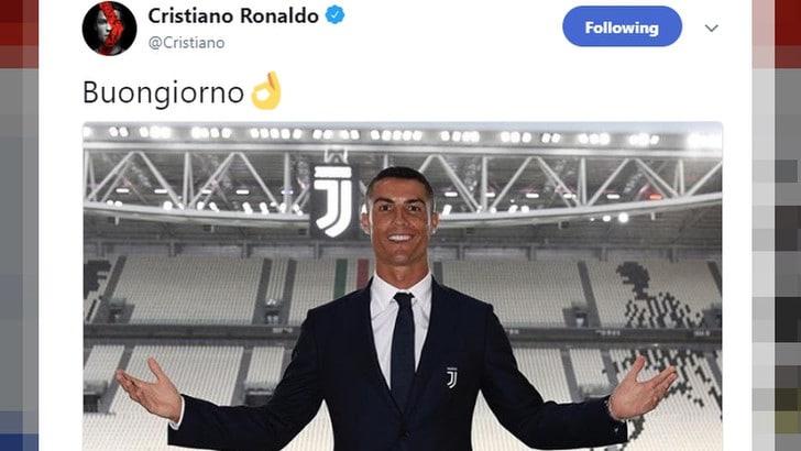 """Juventus, il """"buongiorno"""" di Ronaldo fa milioni di like"""