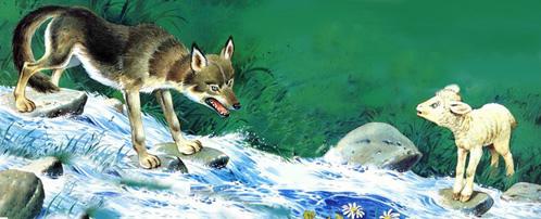 Risultati immagini per il lupo di Fedro vignetta