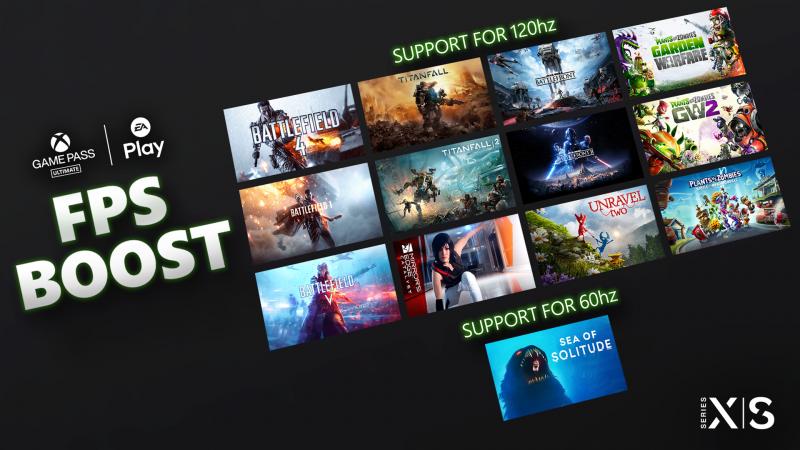 FPS Boost, i giochi EA Play che supportano la feature.
