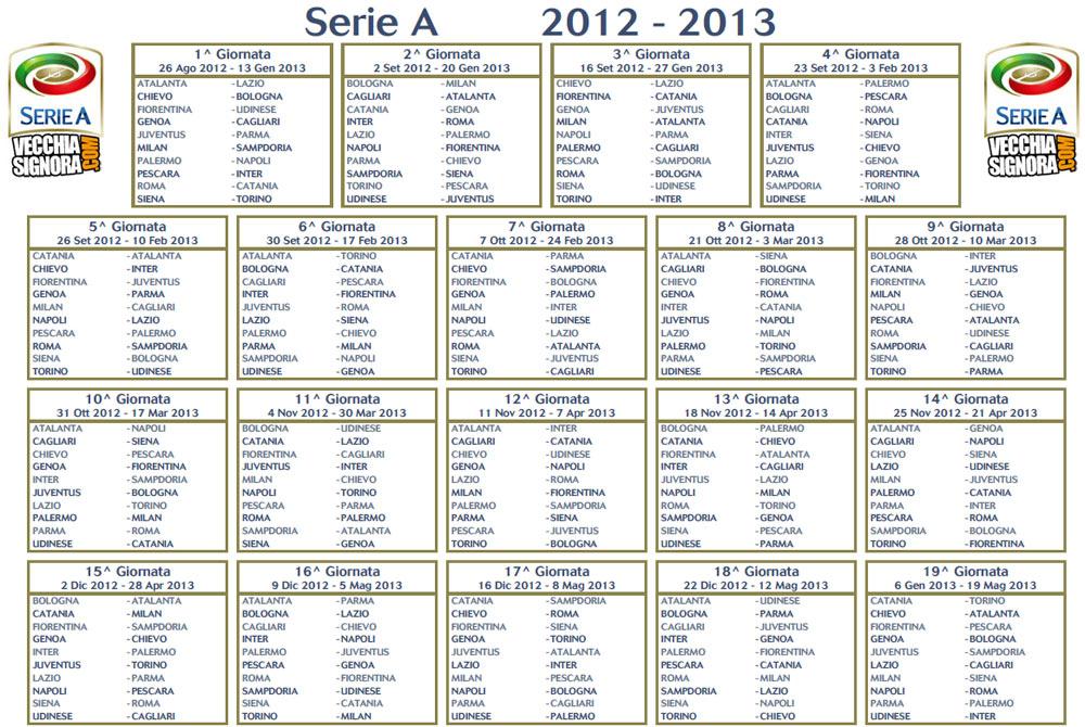 calendario calcio serie a 2012-13